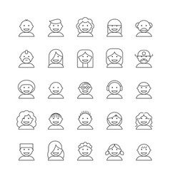Icon people vector