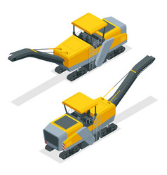 Isometric pavement milling cold planing asphalt vector