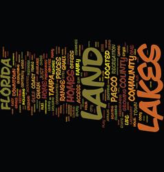 Land o lakes a friendly florida community text vector
