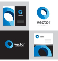 Logo design element with two business cards - 09 vector image