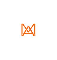 Ma orange logo design vector