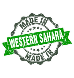 Made in western sahara round seal vector