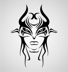 Mask Tribal vector image