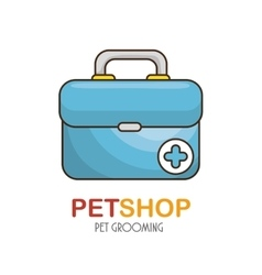 Medical kit pet shop icon vector