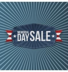 Memorial Day Sale patriotic Label with Ribbon vector