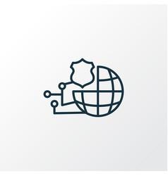 Network protection icon line symbol premium vector