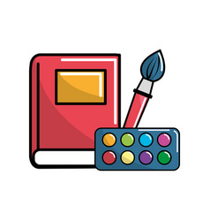 Notebook school tools icon vector