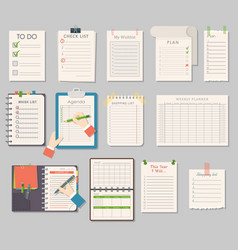 Notebook templates set vector