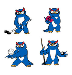 Owl bird mascot for sport club or team design vector
