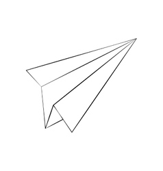 Paper plane draw vector image