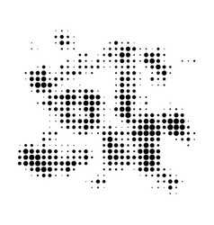 Particle swarm halftone dotted icon vector