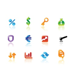 Perfect icons for business and finance vector