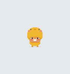 Pixel art chick vector