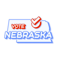 Presidential vote in nebraska usa 2020 state map vector