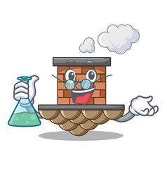 Professor brick chimney isolated in the character vector