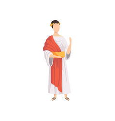 roman emperor man in traditional clothes of vector image