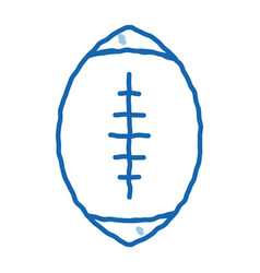 rugby ball doodle icon hand drawn vector image