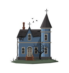 scary church building halloween haunted house vector image
