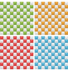 seamless check patterns vector image