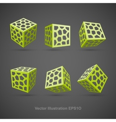 Set of abstract cubes vector image