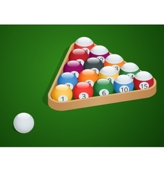 Set of billiard balls Complete Billiard Balls vector image