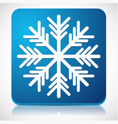 snowflake icon for cold weather or cold concepts vector image