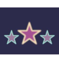 Star halftone vector