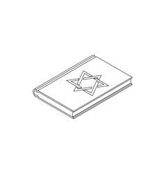 Talmud pentateuch isometric 3d vector image