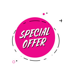 Trendy minimal flat design special offer vector