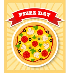 vegetarian pizza day vector image