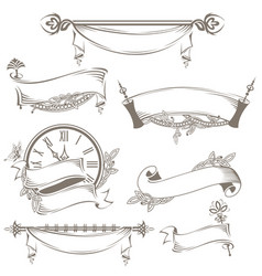 Vintage ribbons and banners vector