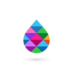 Water drop symbol mosaic logo design template icon vector