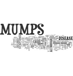 What you need to know about mumps text word cloud vector