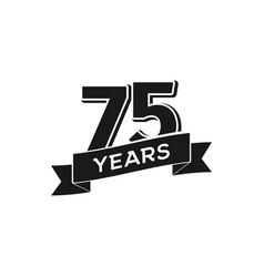 75 years anniversary logotype isolated vector image vector image