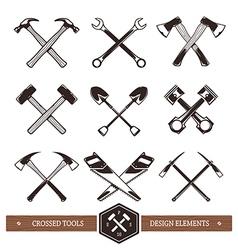 Crossed Work Tools vector image vector image