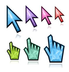 Crystal mouse cursors vector image vector image