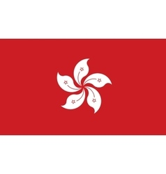 Hong Kong flag image vector image
