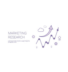 marketing research web banner with copy space vector image