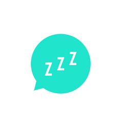 snoring sign in green speech bubble vector image vector image