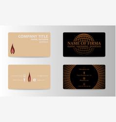 Unique business card vector
