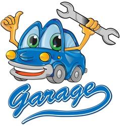 car garage vector image