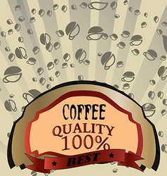 Design abstract coffee vector image
