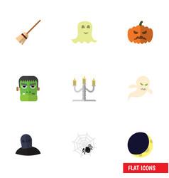 flat icon festival set of spinner spirit vector image vector image