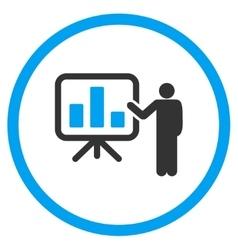 Presentation Flat Icon vector image