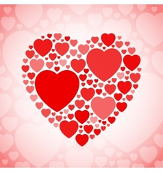 Red and white heart shape vector image