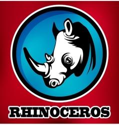 Rhinoceros for sport teams vector