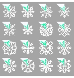 Set of stencil ornaments for hand made snowflake vector image vector image