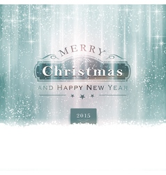 Silver Blue Christmas Typography vector image vector image