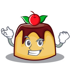Successful pudding character cartoon style vector