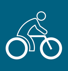 cycling sport figure outline symbol graphic vector image